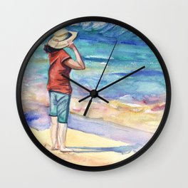 Another Nice Day at the Beach Wall Clock