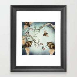 all the buzz Framed Art Print