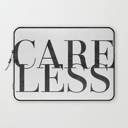care less Laptop Sleeve