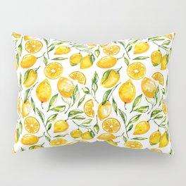 sunny lemons print Pillow Sham