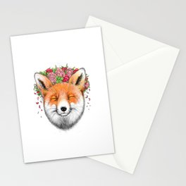 happy fox Stationery Cards