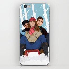 sledding  iPhone Skin