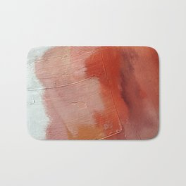 Desert Journey [1]: a textured, abstract piece in pinks, reds, and white by Alyssa Hamilton Art Bath Mat