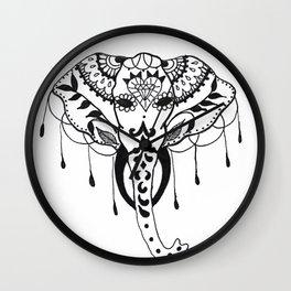 Mehndi Design Elephant by Ganesh Wall Clock