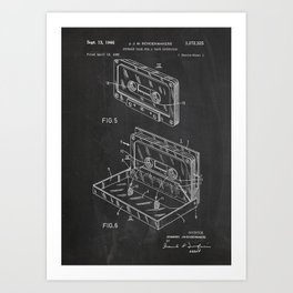 Storage Case for a Tape Cartridge Patent Art Print