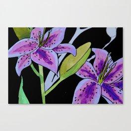 Purple tie dye flower Canvas Print