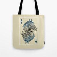 american Tote Bags featuring American Pharoah (Ace) by Rachel Caldwell