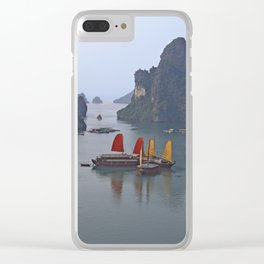 Sailboats in Ha Long Bay Clear iPhone Case
