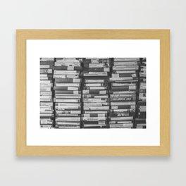 VHS Retro (Black and White) Framed Art Print
