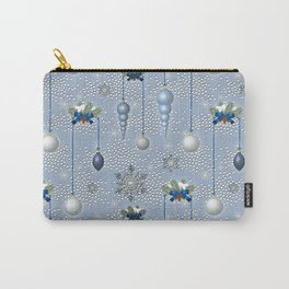 Xmas Balls & Snow Carry-All Pouch