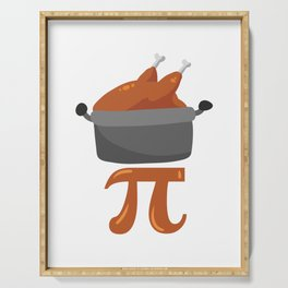 Chicken Pot Pi Funny Math graphic Serving Tray