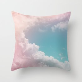Pastel Clouds over Galveston Throw Pillow