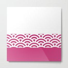 Rainbow Trim Bright Pink Gum Metal Print