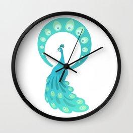 Paon bleu Wall Clock