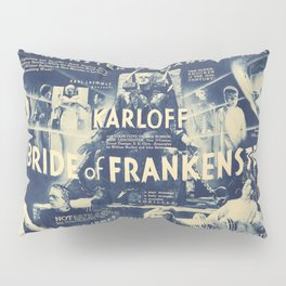 Bride of Frankenstein, vintage horror movie poster Pillow Sham