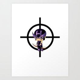 Chibi Hawkeye Art Print
