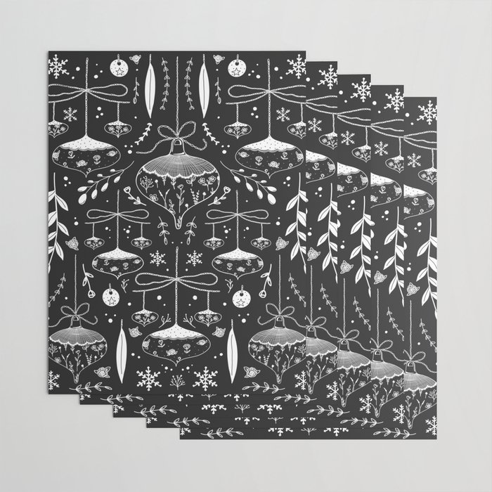 Magic Holidays - black Wrapping Paper