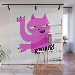 Pink Rawr Cat Wall Mural