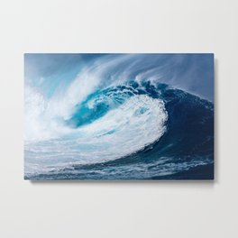 Ocean,wave ,surf decor Metal Print
