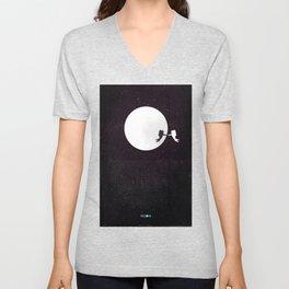 Moon alternative movie poster Unisex V-Neck