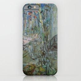 Kida Kinjiro - Landscape with Refrigerators (1957) iPhone Case