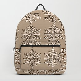 Lace and Stars in Coffee Color Chenille Pattern Backpack