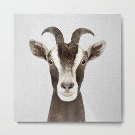 Goat - Colorful Metal Print