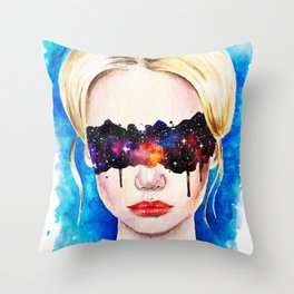 Space is in your eyes Throw Pillow