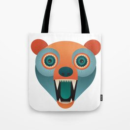 Geometric Bear Tote Bag