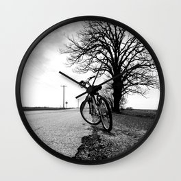 Biking with a Wise Oak Wall Clock