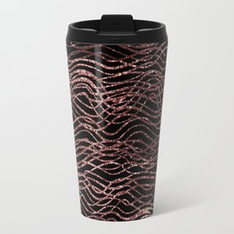 sparkling rose waves Travel Mug