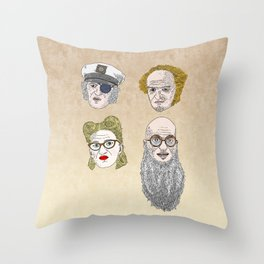 A Series of Unfortunate Events' Count Olaf Throw Pillow