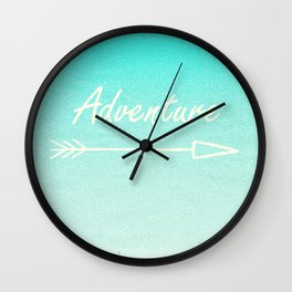 Adventure (this way) Wall Clock