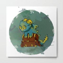 Little Sin Dragon - Greed Metal Print