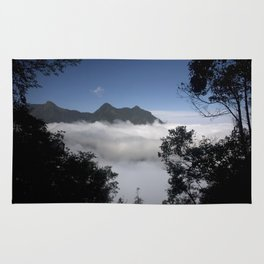 Mountain clouds Rug