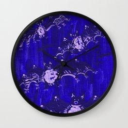 Blue Bats Wall Clock