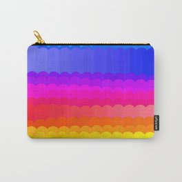 Rainbow and white S28 Carry-All Pouch