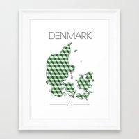 denmark Framed Art Prints featuring DENMARK by Artwork by Eberhardt