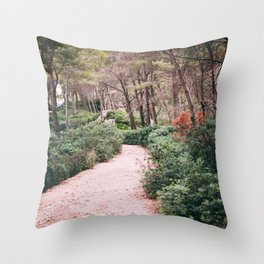 path in the forest 2 Throw Pillow