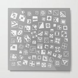 Grey Squares Metal Print
