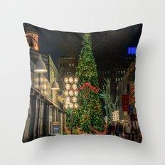 Boston is ready for Christmas  Throw Pillow
