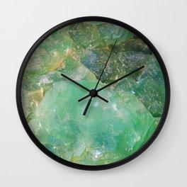 Absinthe Green Quartz Crystal Wall Clock