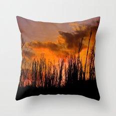 Fall's First Sunset Throw Pillow