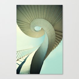 Spiral staircase in pastel tones Canvas Print