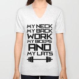 MY NECK, MY BACK Unisex V-Neck