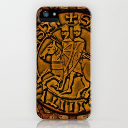 Medieval Seal of the Knights Templar iPhone Case