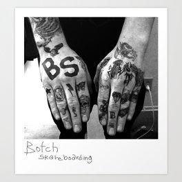 Finger Tats Art Print