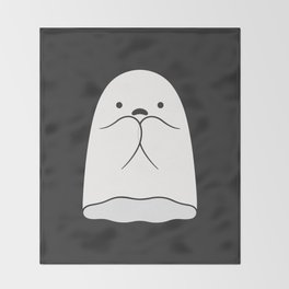 The Horror / Scared Ghost Throw Blanket