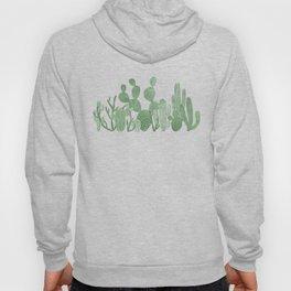 Green cactus garden on white Hoody