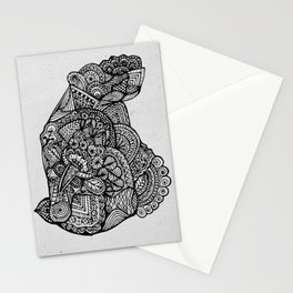 Sitting Hippo Doodle Stationery Cards